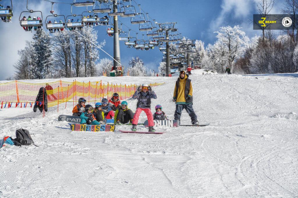 výuka na Beany Snowboard Campu