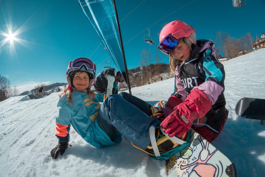 little snowboarders