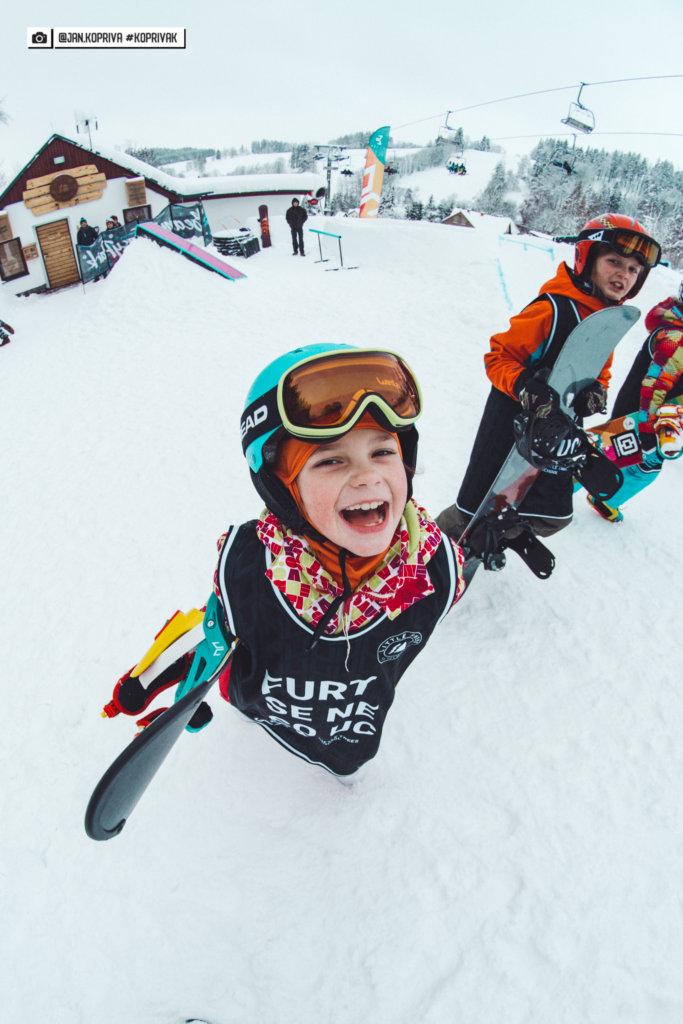 snowboardačka